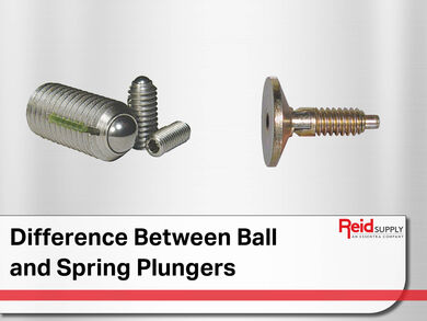 Difference between Ball and Spring Plunger